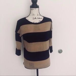 The Limited tan & black lightweight sweater